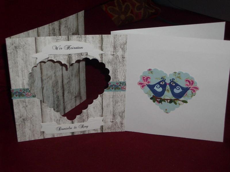 Kleinesbild - Shabby Chic Einladungskarten Hochzeit Einladungen Einladungskarte Hochzeitseinladung