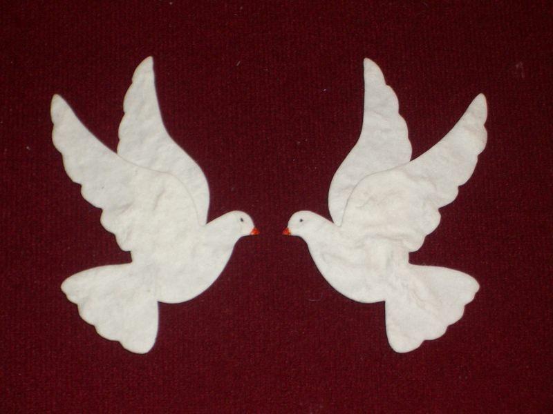 Anlasse 4x Stanzteile Kartenschmuck Tauben Hochzeit