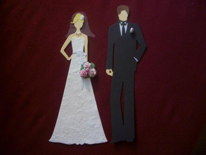 - Stanzteile Kartenschmuck Kartendeko Brautpaar Hochzeit Braut Bräutigam  - Stanzteile Kartenschmuck Kartendeko Brautpaar Hochzeit Braut Bräutigam