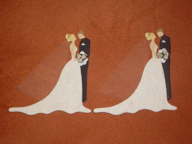 - Stanzteile Kartenschmuck Kartendeko Hochzeitspaar Brautpaar Hochzeit Braut - Stanzteile Kartenschmuck Kartendeko Hochzeitspaar Brautpaar Hochzeit Braut