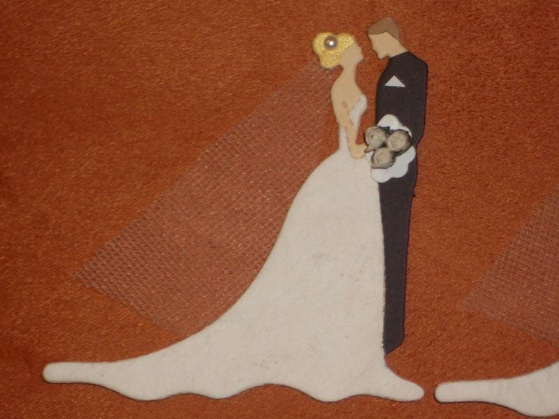 Kleinesbild - Stanzteile Kartenschmuck Kartendeko Hochzeitspaar Brautpaar Hochzeit Braut