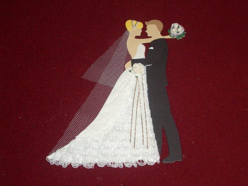 - Stanzteile Brautpaar Hochzeit Braut Bräutigam Kartenschmuck Kartendeko - Stanzteile Brautpaar Hochzeit Braut Bräutigam Kartenschmuck Kartendeko