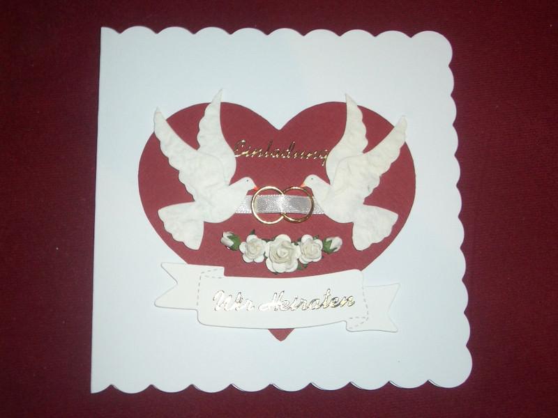 Kleinesbild - Einladungskarten Hochzeit Hochzeitskarten Einladungen Einladungskarte Einladung Tauben