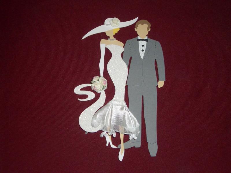 2362.180723.203424 Stanzteile Brautpaar Brautleute Hochzeit Basteln  Kartenschmuck Kartendekoration Hochzeitskarten Karten