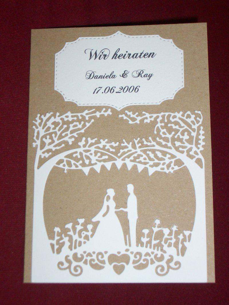 Kleinesbild - Einladungskarten Einladungen Hochzeit Rustic Vintage Einladungskarte Einladung
