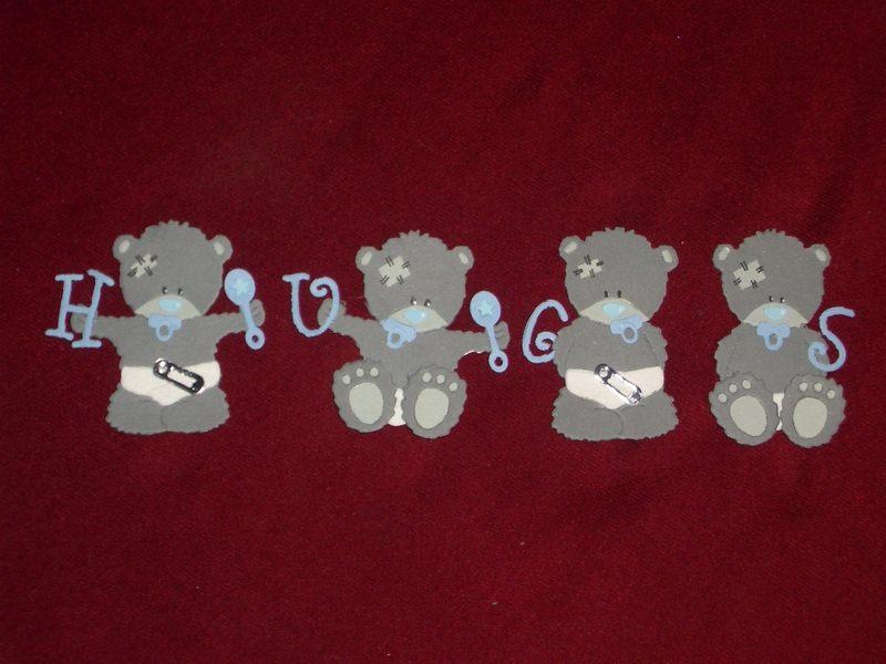 Kleinesbild - Stanzteile Bär Bären Baby Geburt Taufe Kindergeburtstag Geburtstag Grußkarten basteln Kartendeko Kartenschmuck Scrapbooking
