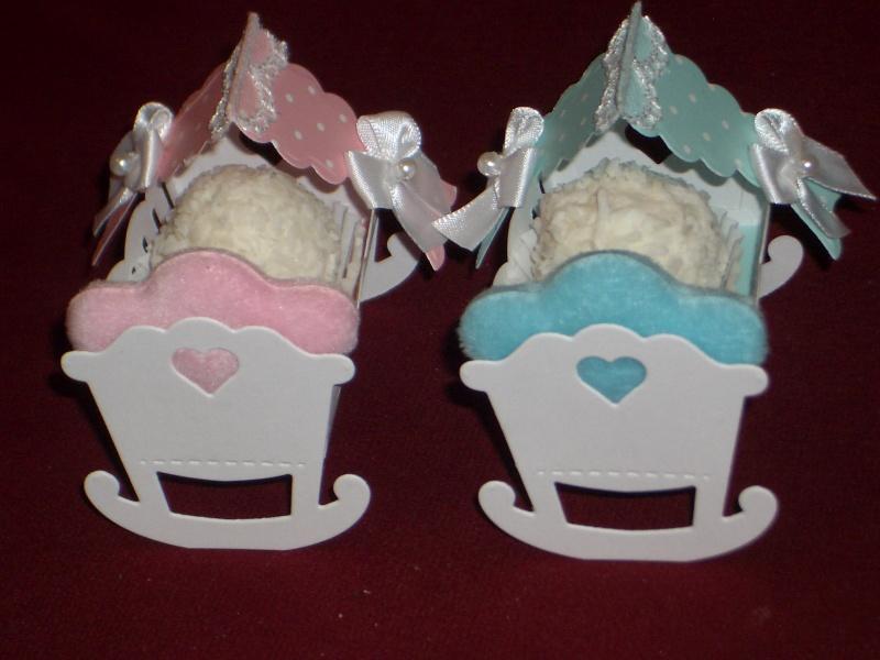 Kleinesbild - Gastgeschenke Taufe Wiege Geburt Jungen & Mädchen Kartonagen Bonbonieren Gastgeschenk