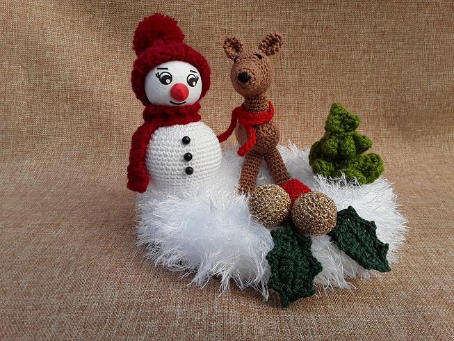 Kleinesbild - winterlicher kleiner Kranz mit Deko