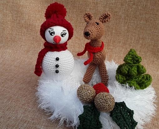 - winterlicher kleiner Kranz mit Deko - winterlicher kleiner Kranz mit Deko