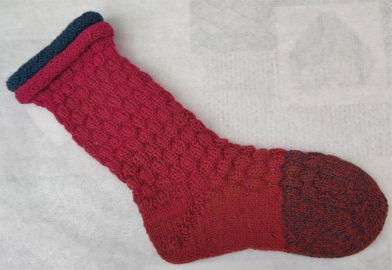 Kleinesbild - handgestrickte Socken Gr. 36-38  mit Rollrand