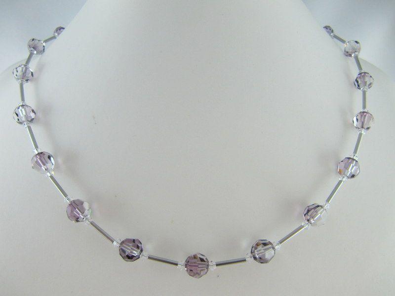 Kleinesbild - Schmuckset Lila Flieder Glitzer Perlen (614)