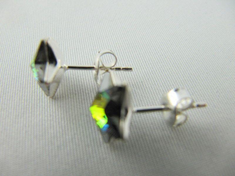 Kleinesbild - Set Ohrstecker und Anhänger Sterne Crystal Vitrail Medium (652)