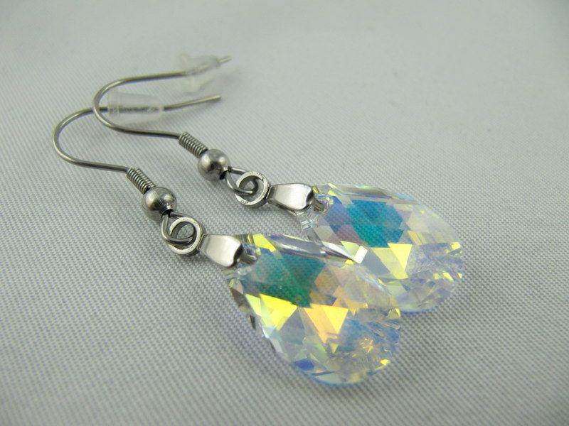 Kleinesbild - Ohrringe Tropfen Crystal AB (644)