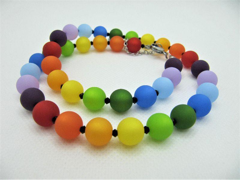 - Kette Regenbogen Bunt Polaris Perlen Polariskette (670) - Kette Regenbogen Bunt Polaris Perlen Polariskette (670)