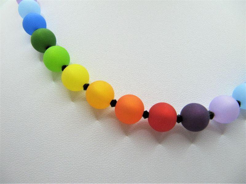 Kleinesbild - Kette Regenbogen Bunt Polaris Perlen Polariskette (670)