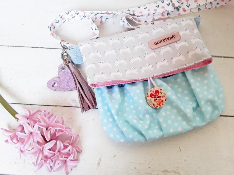 wunderschöne Mädchentasche Glückskind für den Frühling oder als Ostergeschenk