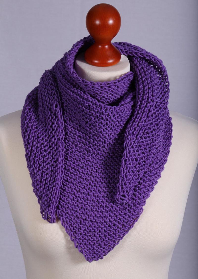 - Hals-Dreieckstuch in Violett aus  100 % Merino - Hals-Dreieckstuch in Violett aus  100 % Merino