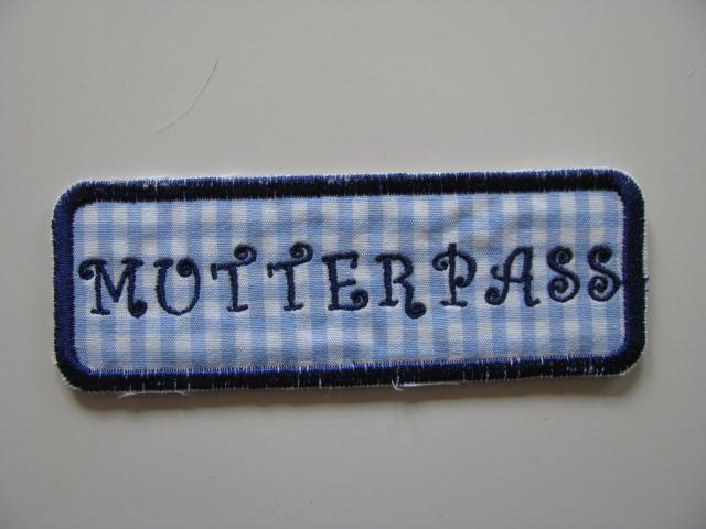 - ❤ Mit Liebe selbstgemachter Mutterpass-Aufnäher ❤  - ❤ Mit Liebe selbstgemachter Mutterpass-Aufnäher ❤