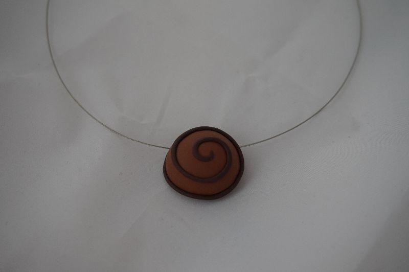 Kleinesbild - Pralinen Collier Nougat - Schoko-Schmuck