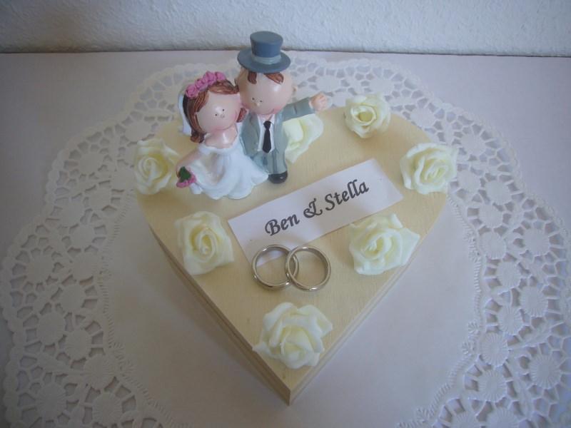 Kleinesbild - Geldgeschenk Hochzeit Herz Hochzeitsgeschenk Schatulle