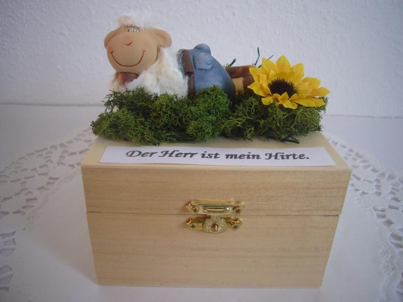 Kleinesbild - Geldgeschenk Kommunion Konfirmation Firmung Jugendweihe Geschenk Schaf Hirte Box