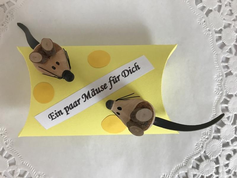 Kleinesbild - Geldgeschenk Mäuse Käse Geld verschenken Geburtstag Kommunion Konfirmation Jugendweihe FIrmung