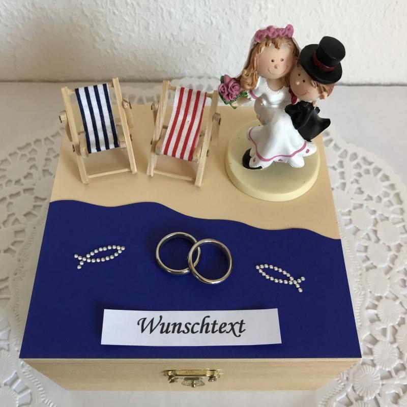 Kleinesbild - Hochzeit Geldgeschenk Flitterwochen Urlaub Reise Strand Meer maritim Hochzeitsgeschenk Brautpaar Geld schenken Hochzeitsreise