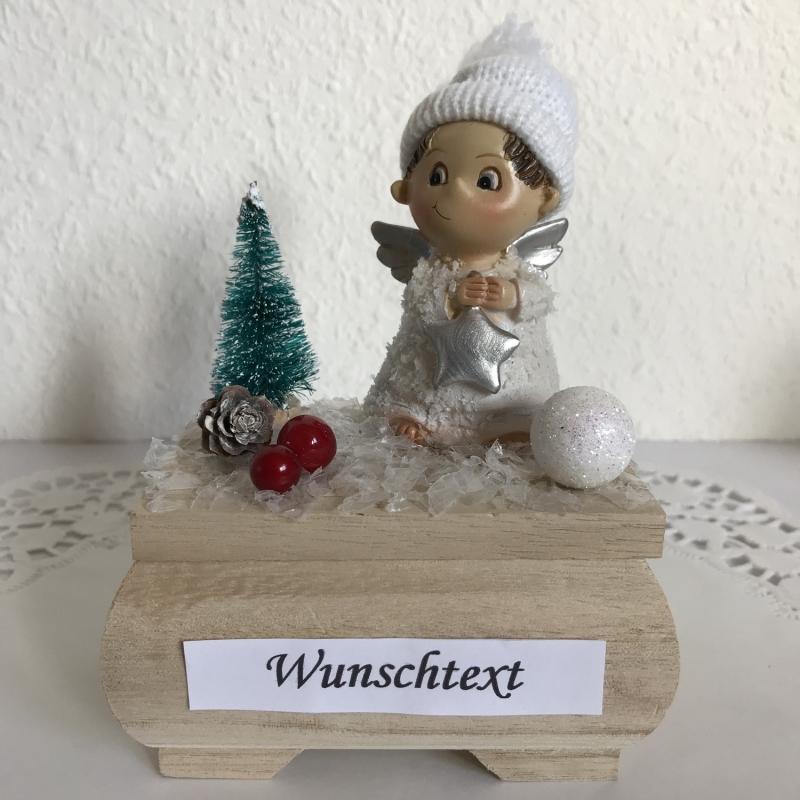 Kleinesbild - Weihnachts-Geldgeschenk Engel Nikolaus Geburtstag Weihnachten Geld verschenken Winterlandschaft Schnee Holz