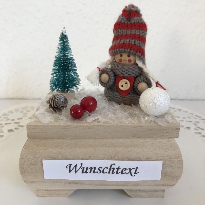 Kleinesbild - Weihnachten Geldgeschenk Frau Mädchen Geburtstag Nikolaus Ski fahren Weihnachtsgeschenk Geld verschenken Wintersport Winterlandschaft Schnee
