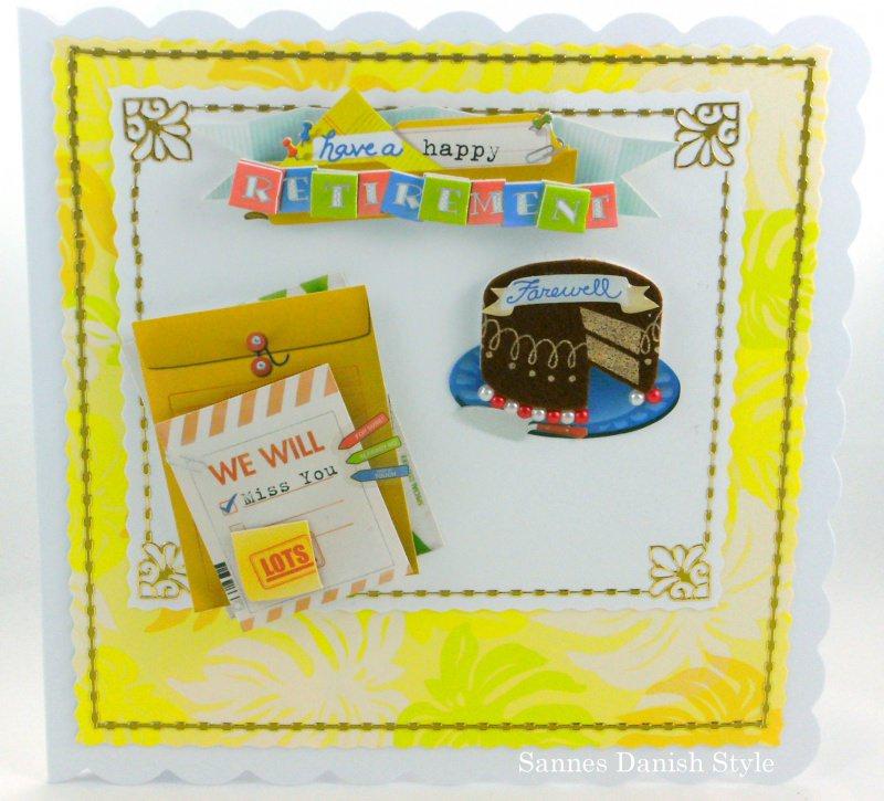 - Grußkarte Rentner, Ruhestand und genießer Leben,  mit Kuche und Brief, ca. 15 x 15 cm - Grußkarte Rentner, Ruhestand und genießer Leben,  mit Kuche und Brief, ca. 15 x 15 cm
