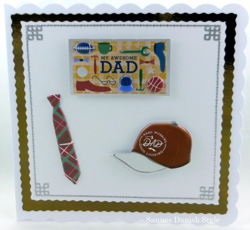 - Geburtstagskarte, Grußkarte, Papa, Vater, Vatertag, Krawatte, Mütze, Schild, die Karte ist ca. 15 x 15 cm - Geburtstagskarte, Grußkarte, Papa, Vater, Vatertag, Krawatte, Mütze, Schild, die Karte ist ca. 15 x 15 cm