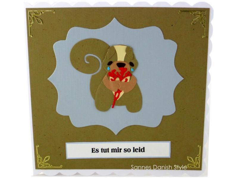 - Grußkarte mit Eichhörnchen, Entschuldigungskarte Eichhörnchen, Tränen, Blumen, Tut mir leid Grußkarte, ca. 15 x 15 cm - Grußkarte mit Eichhörnchen, Entschuldigungskarte Eichhörnchen, Tränen, Blumen, Tut mir leid Grußkarte, ca. 15 x 15 cm