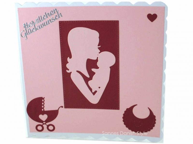 - Mutter und Kind Geburtskarte, Babykarte, Glückwunschkarte, Faltkarte zur Geburt für Mädchen in rosa und weinrot. Die Karte ist ca. 15 x 15 cm - Mutter und Kind Geburtskarte, Babykarte, Glückwunschkarte, Faltkarte zur Geburt für Mädchen in rosa und weinrot. Die Karte ist ca. 15 x 15 cm