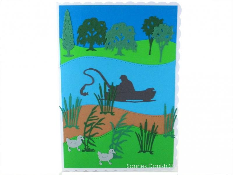 - Anglerkarte, Geburtstagskarte für Angler oder für den Ruhestand, Angler auf den See, ca. DIN A5 - Anglerkarte, Geburtstagskarte für Angler oder für den Ruhestand, Angler auf den See, ca. DIN A5