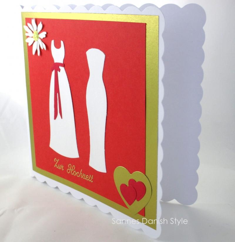 Kleinesbild - Frauenhochzeit, Hochzeitskarte Frauen, Glückwunschkarte für das glückliche Brautpaar, die Karte ist ca. 15 x 15 cm