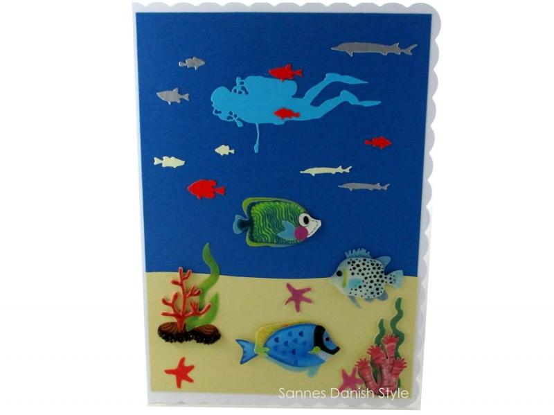 - Taucherkarte, Geburtstagskarte, Grußkarte, Tauchurlaub, Faltkarte, Meer und Pflanzen, die Karte ist ca. DIN A5 Format - Taucherkarte, Geburtstagskarte, Grußkarte, Tauchurlaub, Faltkarte, Meer und Pflanzen, die Karte ist ca. DIN A5 Format