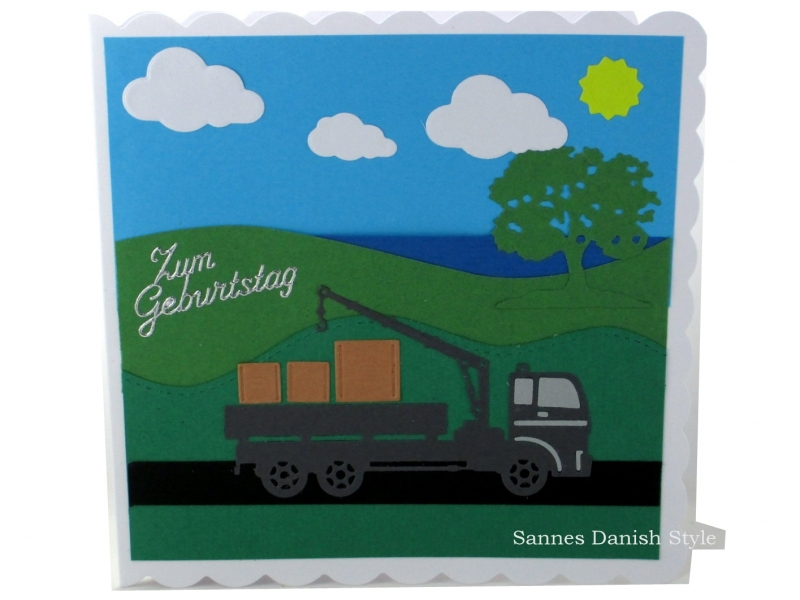 - Geburtstagskarte mit LKW und Kran auf die Strasse, Lastwagen, Geburtstagsgrüße, die Karte ist ca. 15 x 15 cm - Geburtstagskarte mit LKW und Kran auf die Strasse, Lastwagen, Geburtstagsgrüße, die Karte ist ca. 15 x 15 cm