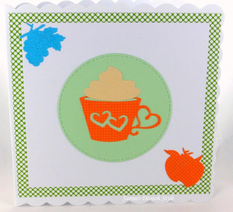 Kleinesbild - Geburtstagskarte, Gute Besserung, Einladungskarte, Café, heiße Schokolade, die Karte ist ca. 15 x 15 cm