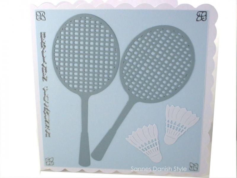 - Grußkarte Federball, Geburtstagskarte Badminton, Karte Federball, Grußkarte mit Badmintonschläger, die Karte ist ca. 15 x 15 cm - Grußkarte Federball, Geburtstagskarte Badminton, Karte Federball, Grußkarte mit Badmintonschläger, die Karte ist ca. 15 x 15 cm