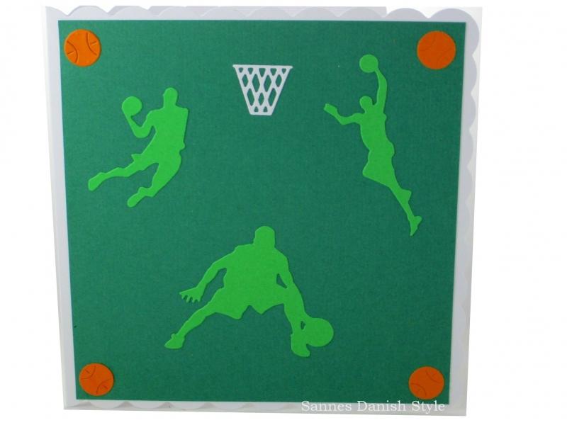 - Geburtstagskarte, Basketballkarte,  Basketball, Grußkarte, Basketballspieler, Netz, ca. 15 x 15 cm - Geburtstagskarte, Basketballkarte,  Basketball, Grußkarte, Basketballspieler, Netz, ca. 15 x 15 cm