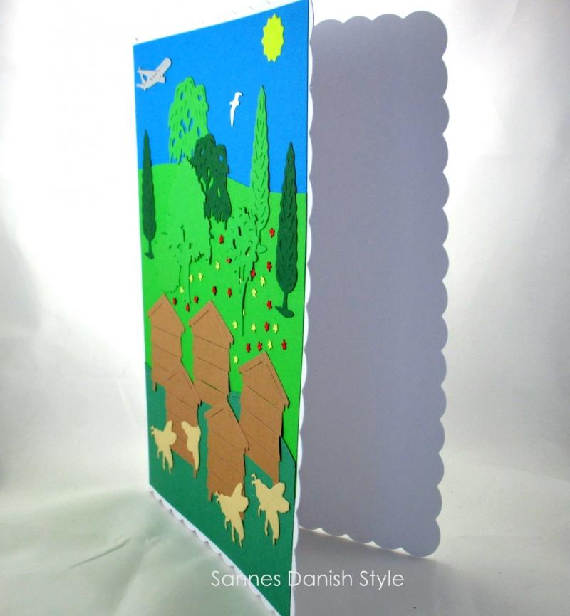 Kleinesbild - XL Geburtstagskarte, Grußkarte, Imker, Bienenzüchter, für Imker mit Bienen, Bienenstock und Blumen, die Karte ist ca. DIN A5 Format