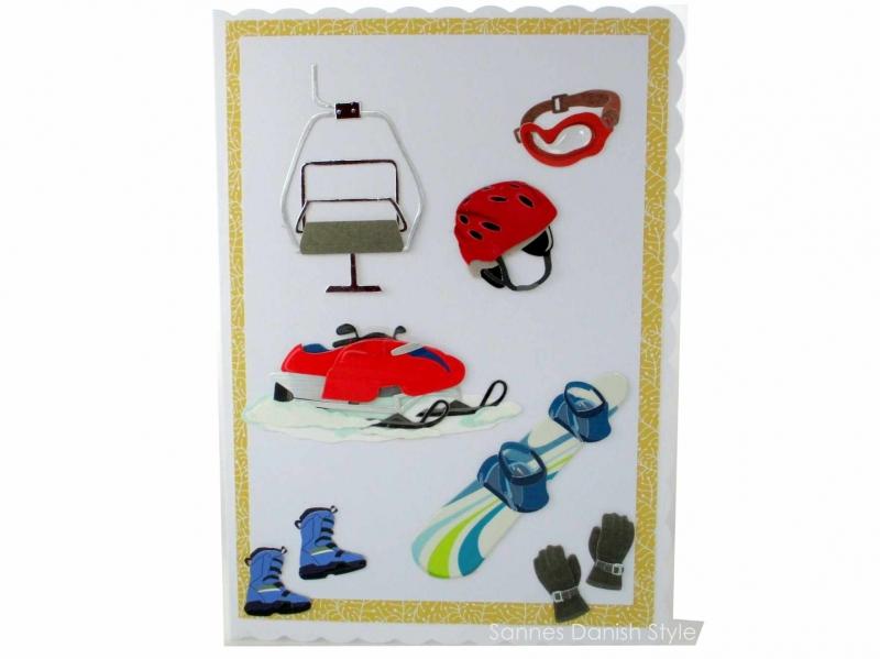 - XL Wintersport, Geburtstagskarte, Glückwunschkarte mit Skilift, Snowmobile, Snowboard, und Kamin, die Karte ist ca. DIN A5 Format. - XL Wintersport, Geburtstagskarte, Glückwunschkarte mit Skilift, Snowmobile, Snowboard, und Kamin, die Karte ist ca. DIN A5 Format.