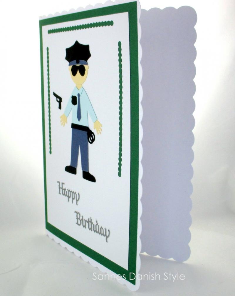 Kleinesbild - XL Grußkarte Polizist, Geburtstagskarte, Uniform, Glückwunschkarte,, DIN A5 Format