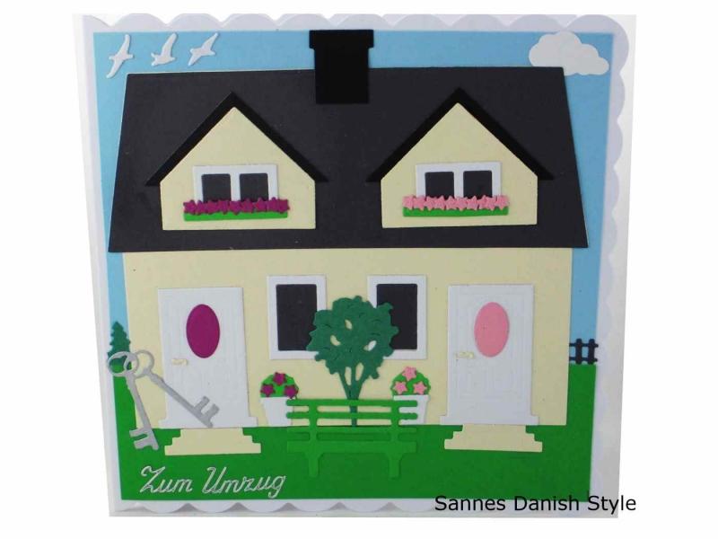 - Umzugskarte, Einzugskarte, Umzug in neues Haus, Glückwünsche an Hausbesitzer, die Karte ist ca. 15 x 15 cm - Umzugskarte, Einzugskarte, Umzug in neues Haus, Glückwünsche an Hausbesitzer, die Karte ist ca. 15 x 15 cm