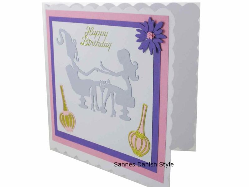 Kleinesbild - 3D Nagelstudio Geburtstagskarte, Nagelstudiokarte, Grußkarte für schöne Nägel, Grußkarte Geldgeschenk, gleich bestellen, die Karte ist ca. 15 x 15 cm