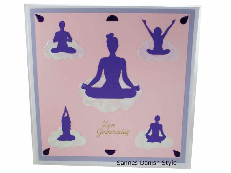 - Geburtstagskarte, 3D Grußkarte, Entspannung, Meditation oder Yoga, diese Karte ist für die Frau, die Karte ist ca.20 x 20 cm - Geburtstagskarte, 3D Grußkarte, Entspannung, Meditation oder Yoga, diese Karte ist für die Frau, die Karte ist ca.20 x 20 cm