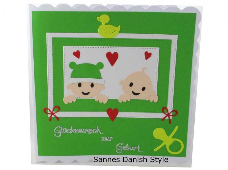 - Babykarte für Zwillinge, Zur Geburt, Grußkarte, Zwillinge Geburtskarte, 3D Geburtskarte, die Karte ist ca. 15 x 15 cm - Babykarte für Zwillinge, Zur Geburt, Grußkarte, Zwillinge Geburtskarte, 3D Geburtskarte, die Karte ist ca. 15 x 15 cm