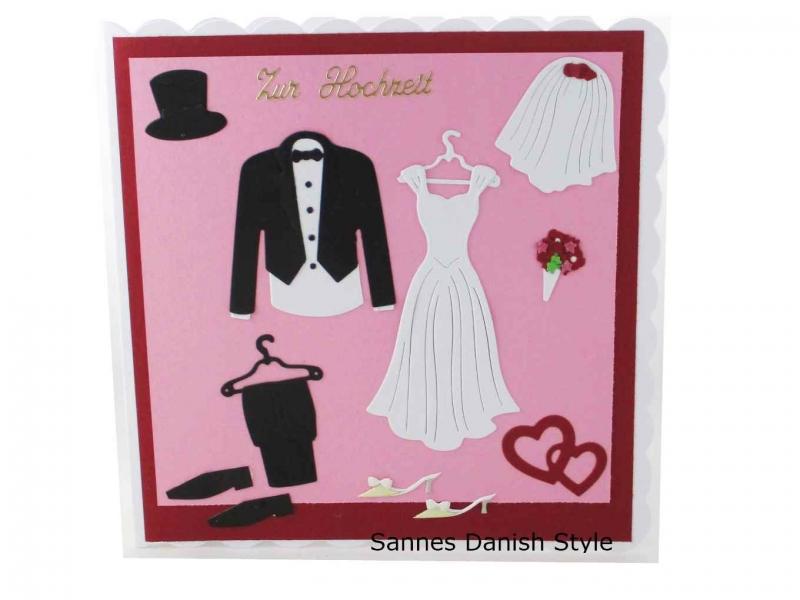 - 3D Hochzeitskarte Kirchenhochzeit, Grußkarte zur Hochzeit, schöne Glückwunschkarte mit Brautkleid und Anzug. Die Karte ist ca. 15 x 15 cm - 3D Hochzeitskarte Kirchenhochzeit, Grußkarte zur Hochzeit, schöne Glückwunschkarte mit Brautkleid und Anzug. Die Karte ist ca. 15 x 15 cm