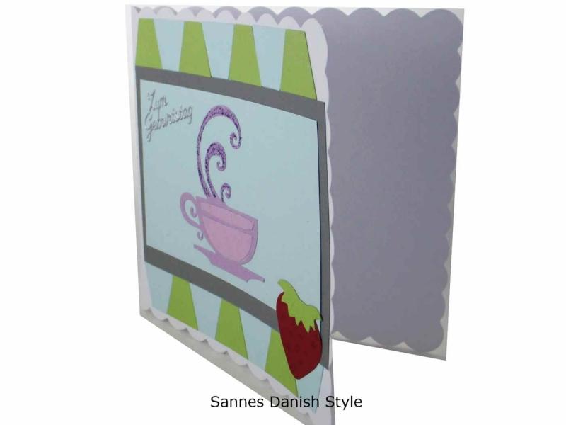 Kleinesbild - Geburtstagskarte, Tasse, Kaffee, Tee, Suppe, 3D Grußkarte, Karte mit Getränk, schlicht, neutral, schöne Geburtstagskarte, die Karte ist ca. 15 x 15 cm
