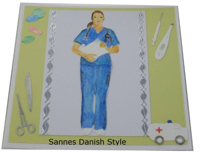 Kleinesbild - Mediziner, Geburtstagskarte Ärztin, Mediziner, Pflegekraft, Geburtstagskarte für Medizinbereich, die Karte ist 13,5 x 13,5 cm